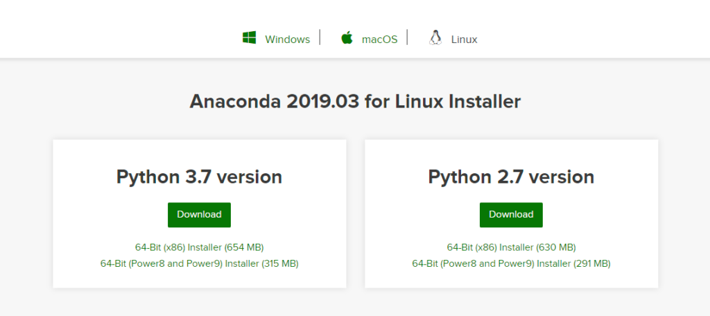 Install Anaconda by first downloading the package from the official website