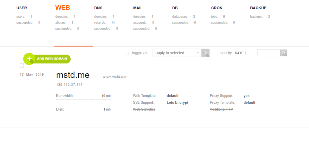 add your subdomain as a web domain