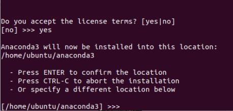 choose a location to install anaconda to
