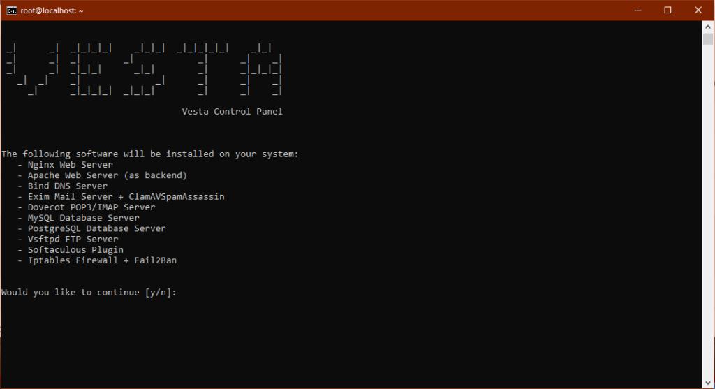 Install VestaCP on Ubuntu 18.04