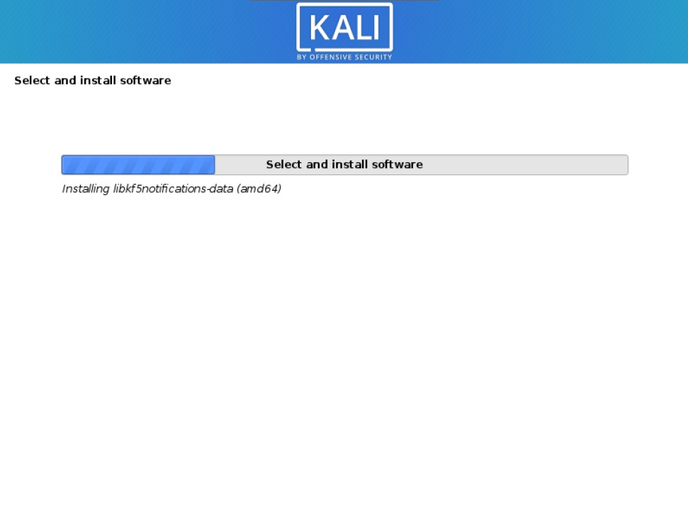 kali installer continuing to install kali linux
