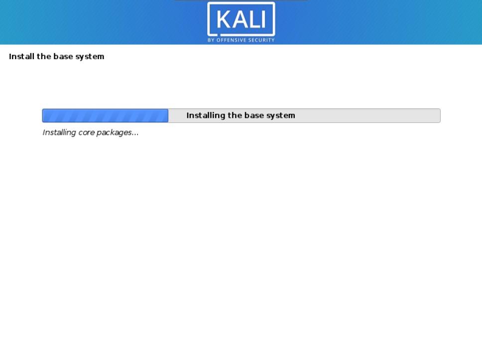 kali installer install kali linux base system
