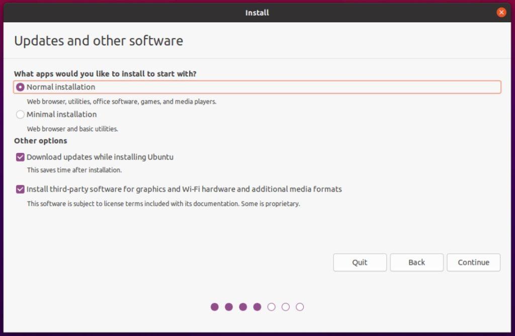 ubuntu installer other software