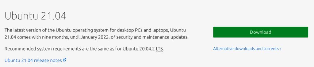 Download Ubuntu 21.04