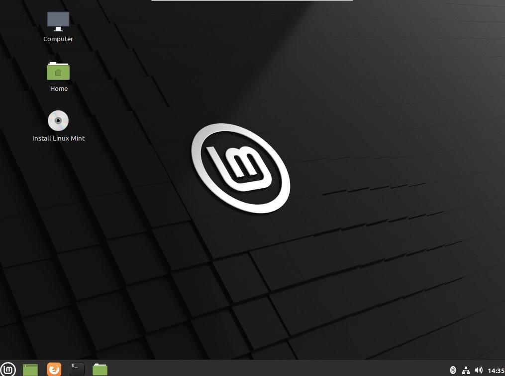 linux mint 20 live iso desktop