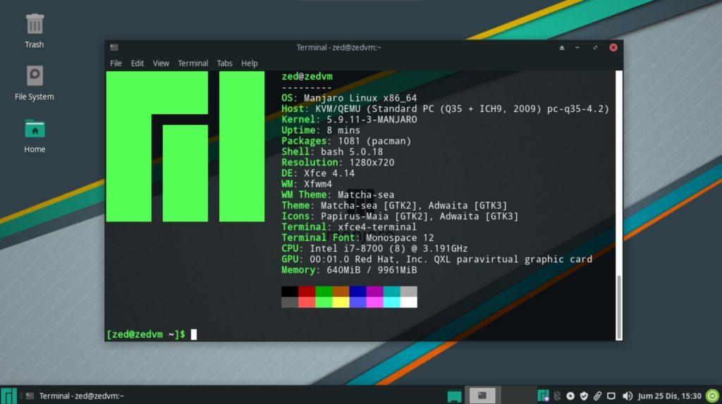 manjaro 20.2 desktop
